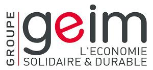 Voici une image du logo du groupe GEIM s'inscrivant dans une démarche d'économie solidaire et durable.