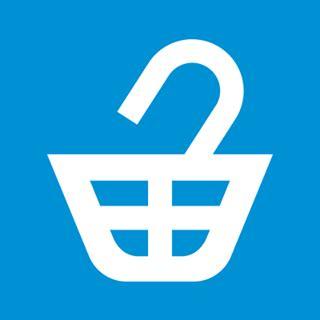 Il s'agit d'un cadis blanc sur un fond bleu. C'est le logo de l'association I Buycott : une association qui lutte contre les injustices commises par les firmes en menant des campagnes de boycott.