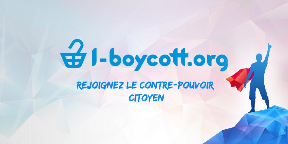 """Ceci est l'image de la plateforme I-boycott. Le slogan """"rejoignez le contre-pouvoir citoyen"""" est affiché."""