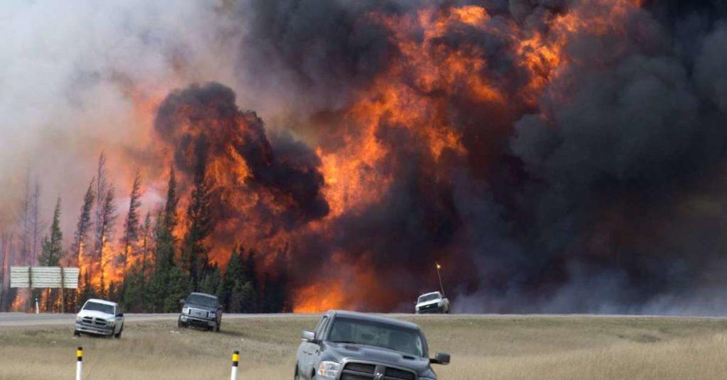 Incendie Canada réchauffement climatique